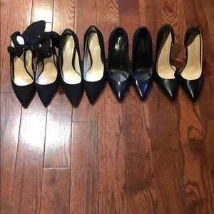 4 pairs of black pointy pumps Zara 36